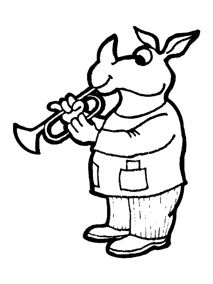 Wind > Brass Instruments coloring pages and links to learn and listen to the instruments.