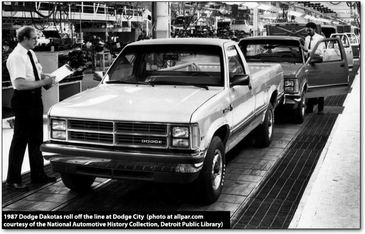 WTAP building the 1987 Dodge Dakota on the line