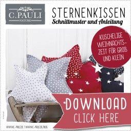 Download Schnittmuster Sternenkissen