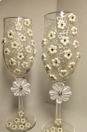 wedding glasses manual handmade work - Art-ioma