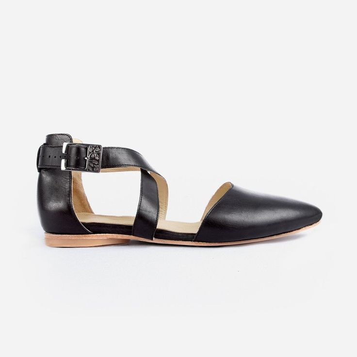 The Strappy Sandal - black leather womens criss-cross sandal - Poppy Barley