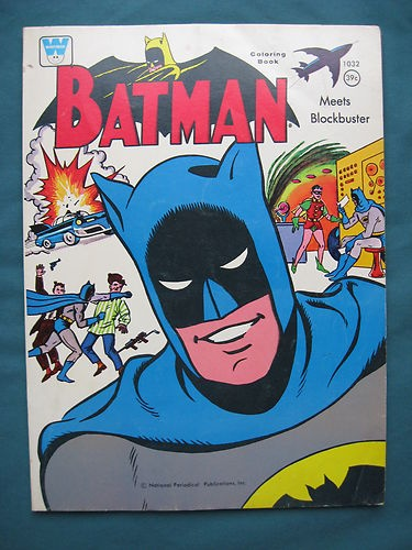 Vintage Batman Coloring Book 1966 RARE