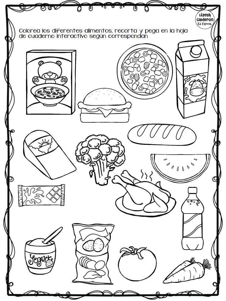 Actividades de alimentos saludables para preescolar