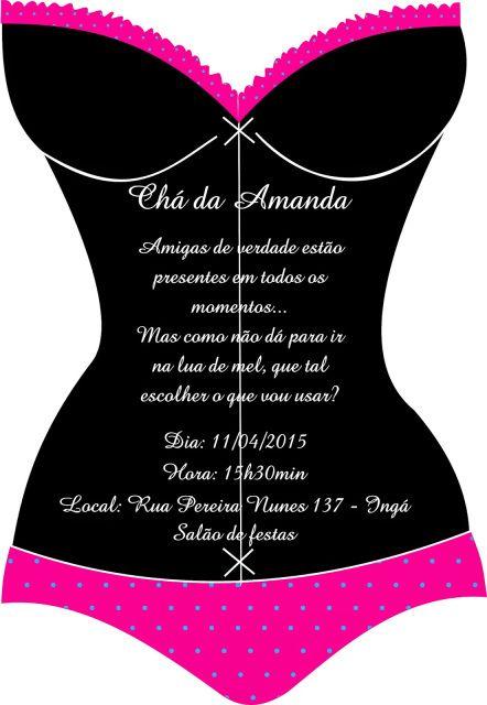 b85ab0c98 Chá de lingerie da Amanda