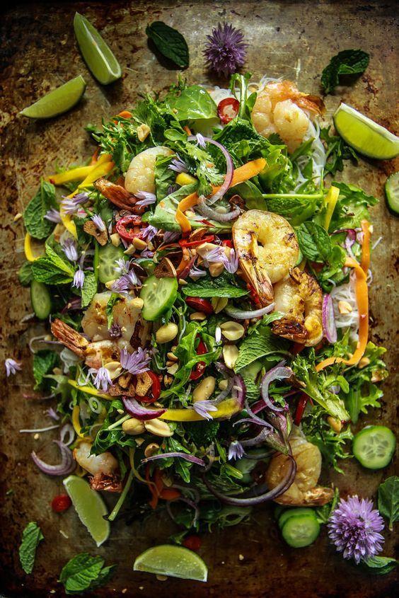 Vietnamese Shrimp Salad from HeatherChristo.com