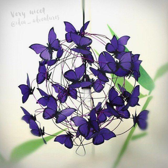 """""""Mi piace"""": 481, commenti: 3 - Handmade Творчество  (@idea_adventures) su Instagram: """"Оформление бабочками эффектная и очень простая идея в исполнении. ⠀ Вырезать бабочек из бумаги не…"""""""