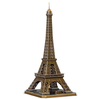 3D Cardboard Puzzle.   Eiffel Tower.  Large Puzzle.  From Green Ant Toys Online Toy Store.  www.greenanttoys.com.au