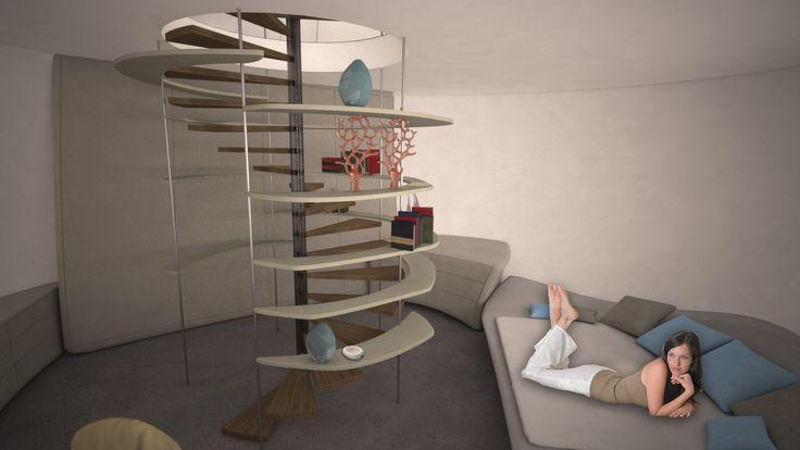 PLUG-IN Symbiotic/Parasitic Capsule Living Structure, Interior - Student Project 2015, Shenkar, Israel, AK Design www.annakislitsina.com