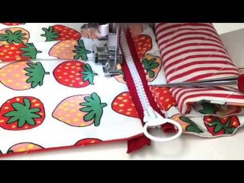 主婦のミシン、簡単仕切りポーチの作り方 - YouTube