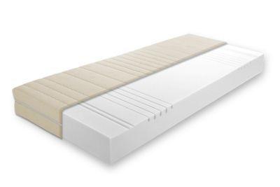Dieser Artikel ist NUR ONLINE erhältlich!<div>Diese tolle<b>7-Zonen-Komfortschaummatratze</b>sorgt für optimalen Liegekomfort und ist die perfekte Ergänzung für Ihr neues Bett. Die ca.<b>140 x 200 cm (B x L)</b>große Matratze mit einem ca. 15 cm hohen Komfortschaumkern ist<b>atmungsaktiv</b>und<b>schadstoffgeprüft</b>. Zudem ist die Komfortschaummatratze<b>rollbar</b>und<b>wendbar</b>. Der an der Ober- und Unterseite mit Klimafasern versteppte<b>Doppeltuchbezug</b>aus 100…