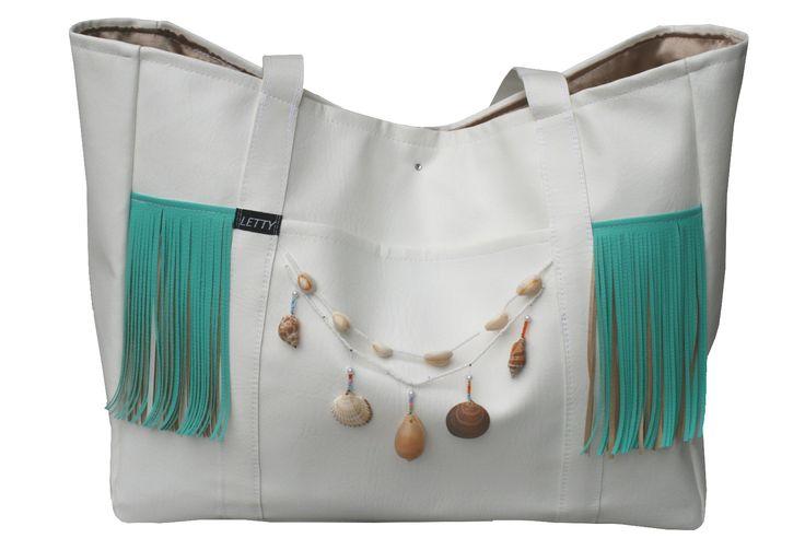 Dawanda, Tasche, LETTY, Beach-Bag, Boho Strandtasche, Ibiza, Fransen Tasche, Muscheln, Meer, Sand, Strand, Beach, Bohemian style