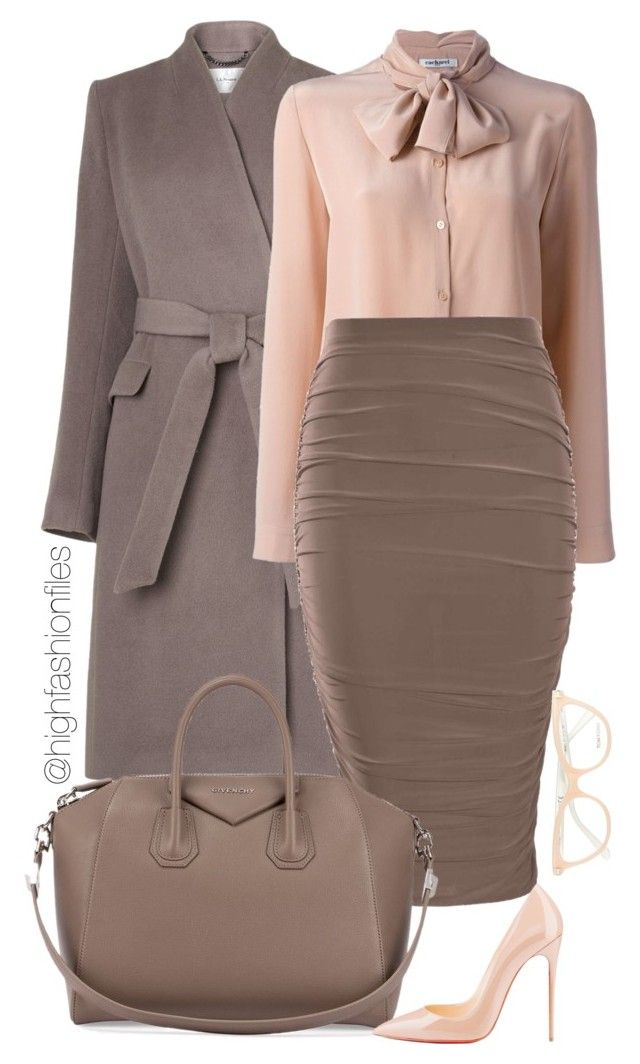 """Business Woman"" by highfashionfiles ❤ liked on Polyvore featuring L.K.Bennett, Cacharel, Givenchy, Christian Louboutin and Tom Ford"