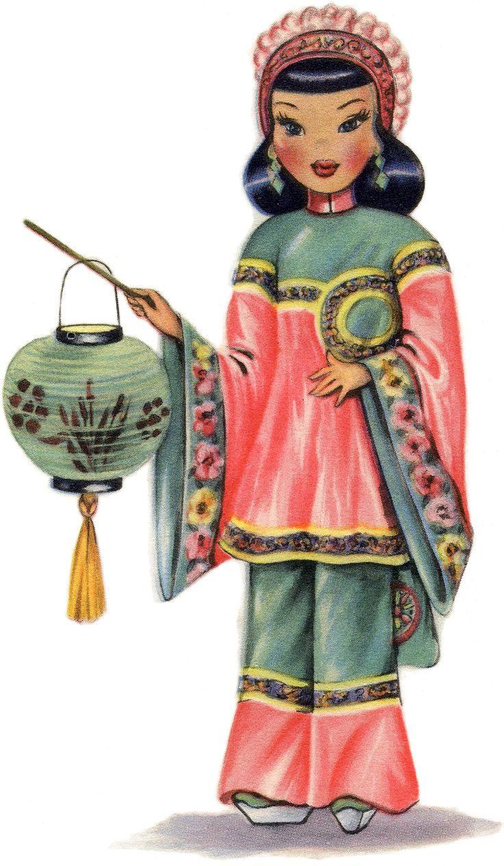 Pretty Retro Chinese Doll