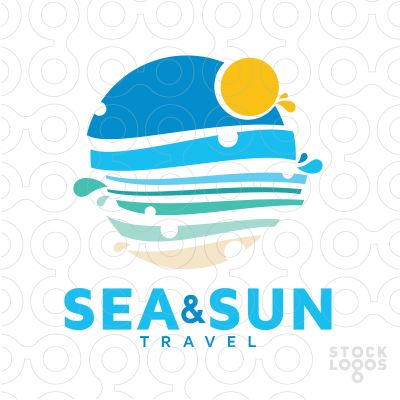 Exclusive Customizable Logo For Sale: Sea & Sun Travel | StockLogos.com