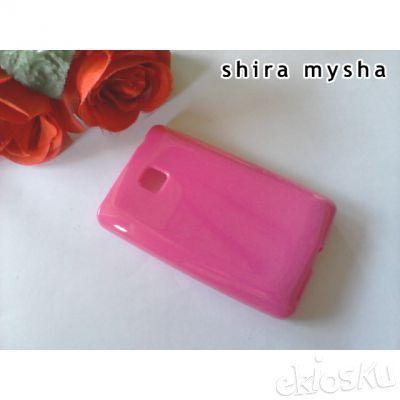 Jual Silikon Soft Case LG OPTIMUS L3 II Single SIM E425 | PINK | Shira Shop