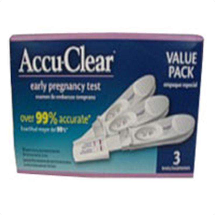 Buy Accu Clear Pregnancy Line Test Visual Stick - 3 ea   Accu Clear Pregnancy Line Test Visual Stick.Accu Clear Pregnancy Line Test Visual Stick