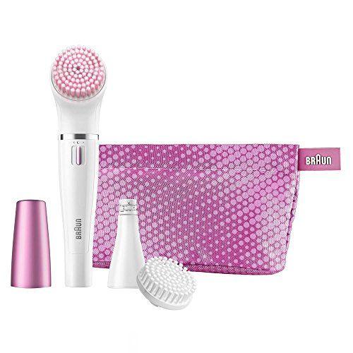 Braun Face 832s Gesichtsepilierer und Gesichtsreinigungsbürste (elektrischer Epilierer fürs Gesicht mit Reinigungsbürste) rosa