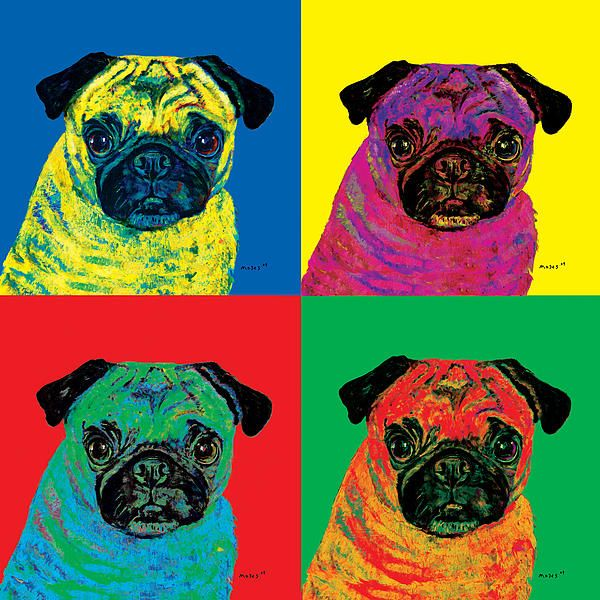 WARHOL PUG by Dale Moses This piece looks INCREDIBLE as a METALPRINT.  ~Moses