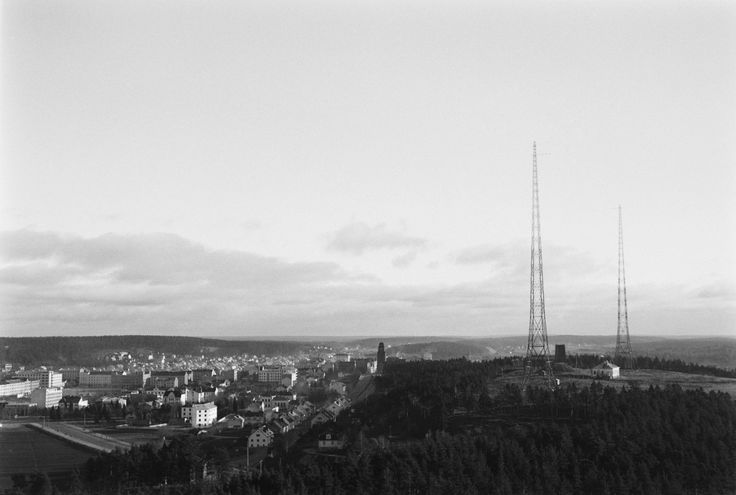 Lahti, radio station and radiomasts, ca. 1929.