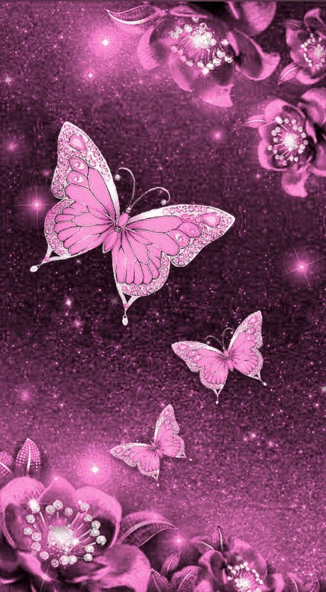 Pin By Kristen On Pretty Wallpaper Glitter Phone Wallpaper Phone Wallpaper Pink Butterfly Wallpaper Iphone
