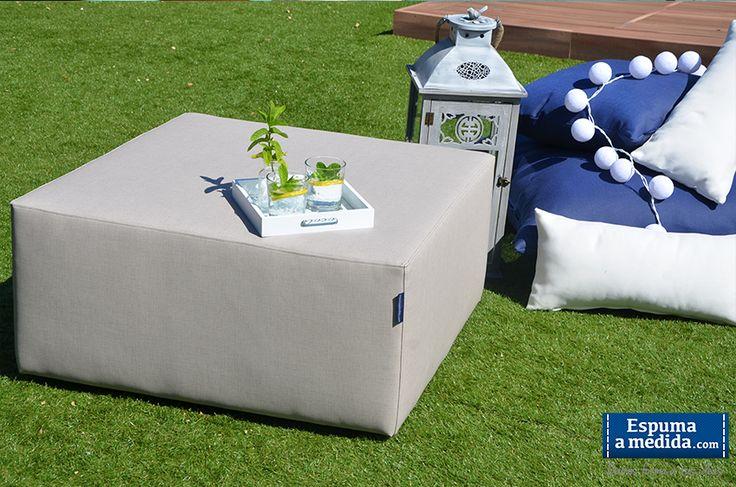 Módulo puff-mesa de nuestra Colección Sofá Modular Trópic: elegante, polivalente y resistente!