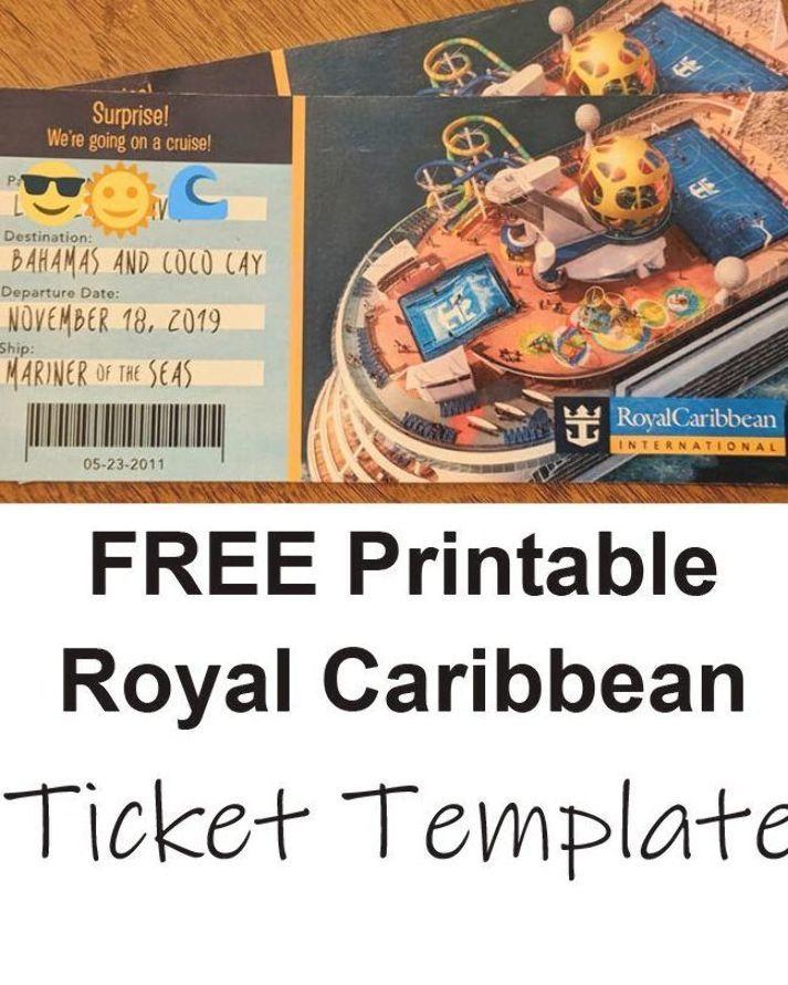 Free Printable Surprise Royal Caribbean Cruise Ticket Template Royal Caribbean Blog Royal Caribbean Cruise Ship Royal Caribbean Cruise Royal Caribbean