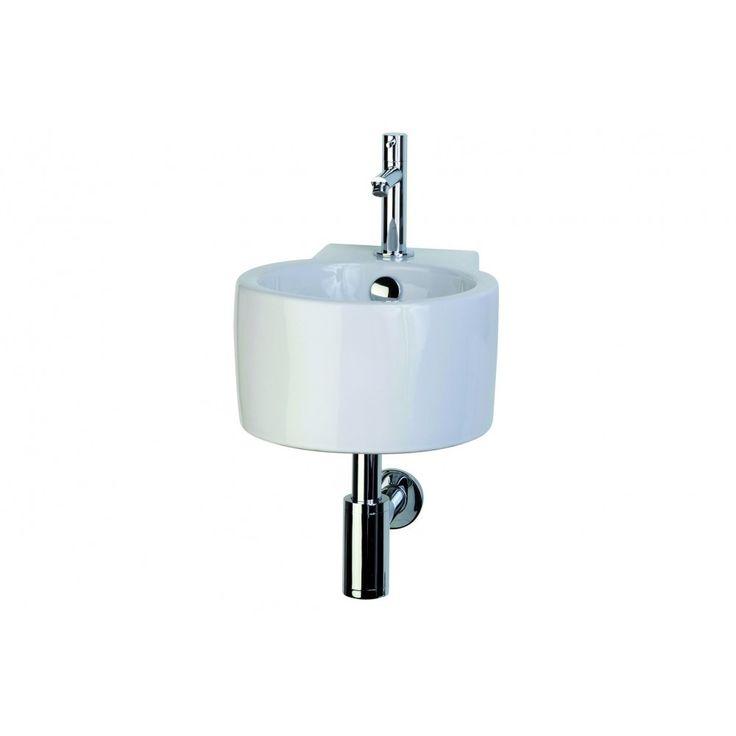 Differnz TCN wastafelset 34.5x27.6x15.6cm met kraan sifon en overloop wit - 38.100.00 - Sanitairwinkel.nl