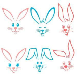 Easter Bunny Happy Face with Ears Cuttable Design Cut File. Vector, Clipart, Digital Scrapbooking Download, Available in JPEG, PDF, EPS, DXF and SVG. Works with Cricut, Design Space, Sure Cuts A Lot, Make the Cut!, Inkscape, CorelDraw, Adobe Illustrator, Silhouette Cameo, Brother ScanNCut and other compatible software. Perfect for Easter Gifts, Decorations and Projects with these Distinctive Easter Bunny Designs.