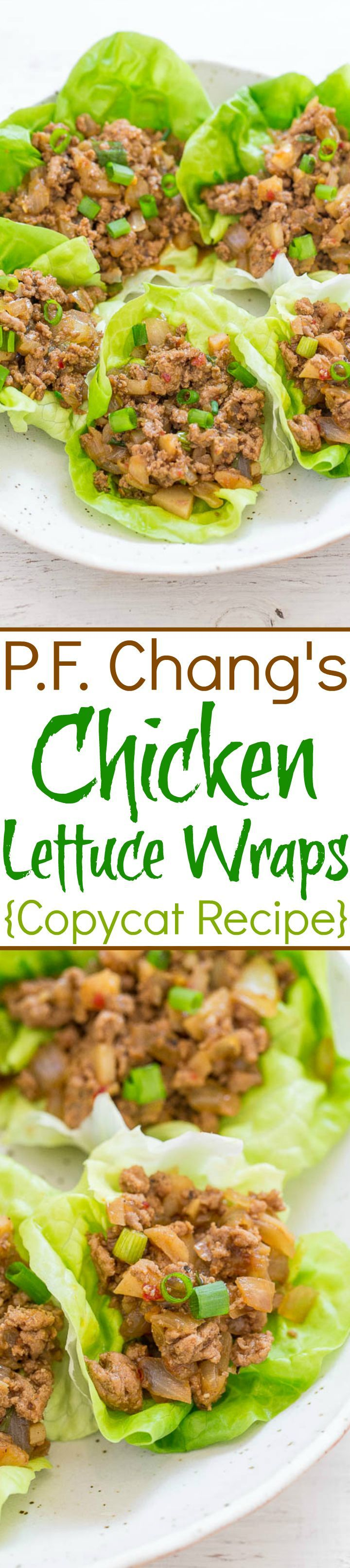 P.F. Chang's Chicken Lettuce Wraps {Copycat Recipe} - Averie Cooks