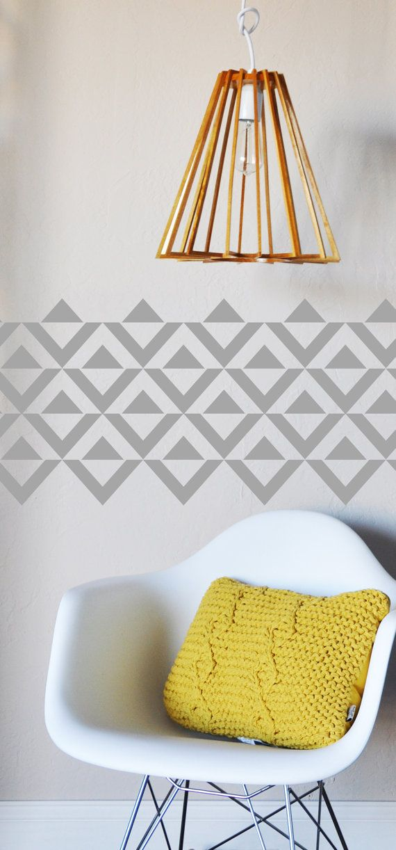 Negative Triangles WALL DECAL by TheLovelyWall on Etsy, $34.50