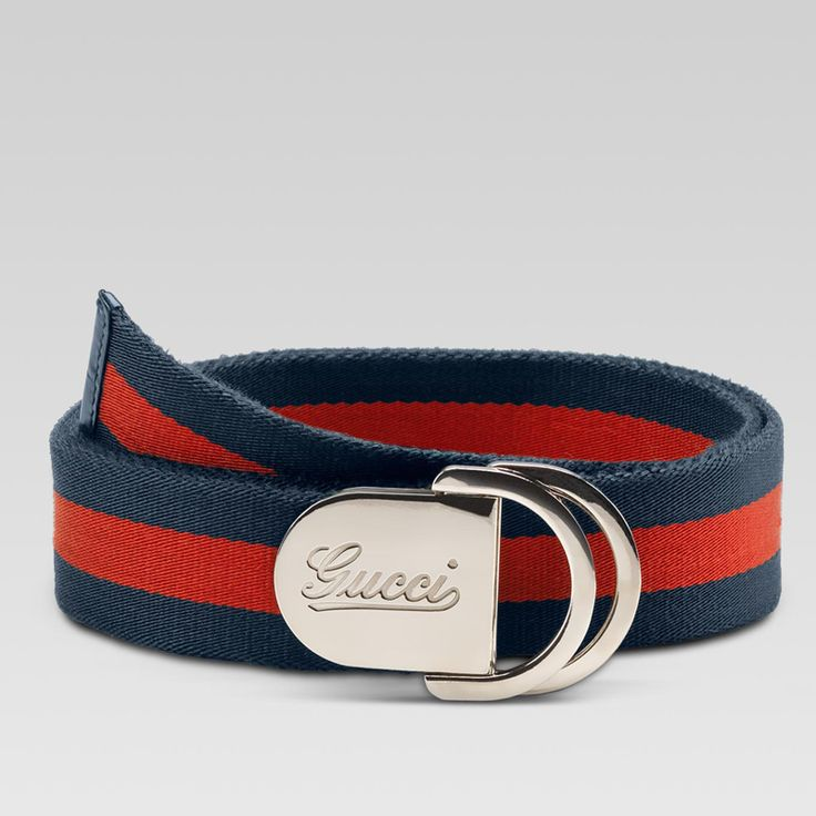 Gucci Men Belt - 189812 H90WN 8497 belt with engraved gucci script logo and D ring bu