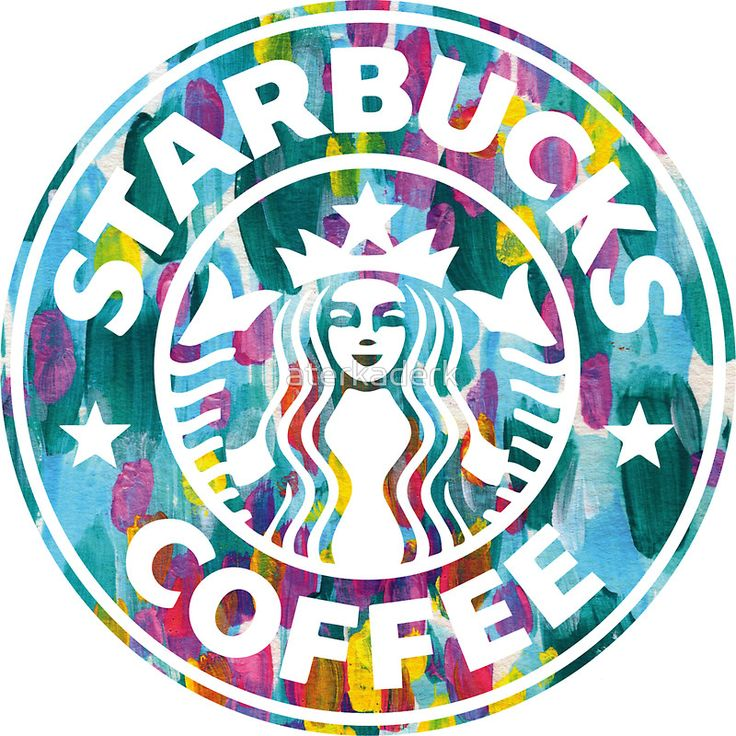 Painted Starbucks Logo by aterkaderk