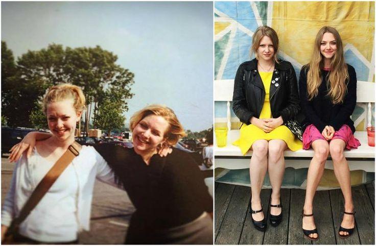 Amanda Seyfried with sister Jennifer Seyfried