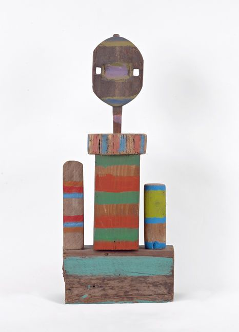 Betty Parsons Head-At-The-Top (Mixed media on wood, 21 x 8-3/4 x 4 inches) Spanierman Gallery