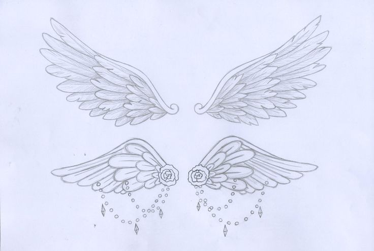 Maybe a next tattoo? The top ones but small and solid black #sternum_tattoo_wings