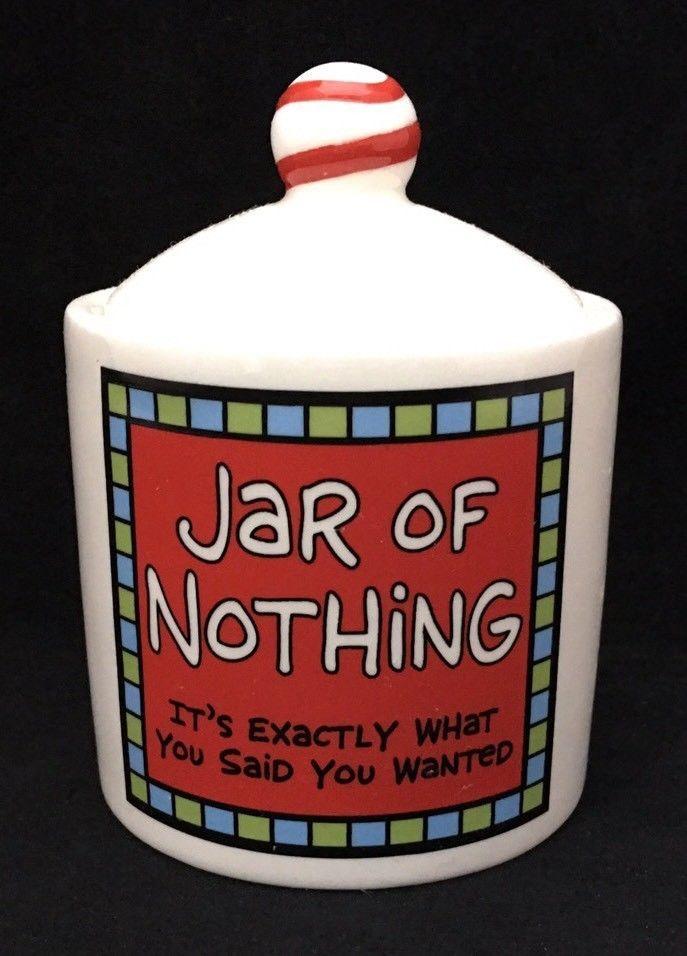 Our Name Is Mug Small Jar Of Nothing Canister Gag Gift Birthday Christmas