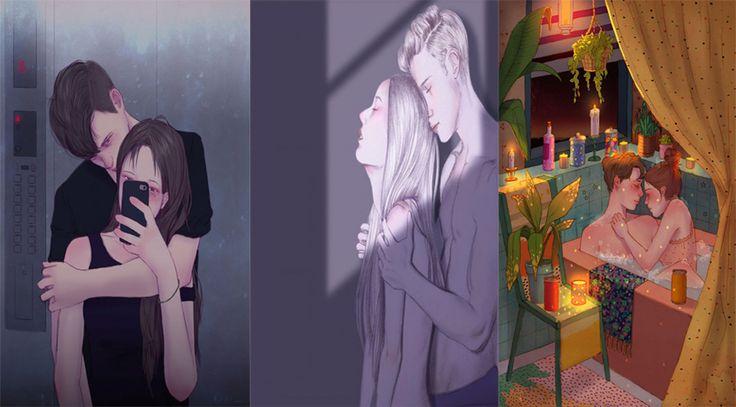Biliyor muydun ? /// Aşık Olmanın Güzel Anlarını Sanata Döken Koreli Sanatçı'dan 19 Duygusal İllüstrasyon