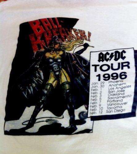 Vintage Rare AC/DC 1996 Ballbreaker Concert Shirt XL Unisex In Good Vint. Cond.  | eBay