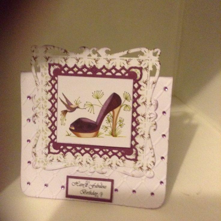 House of Zandra Fabulous Shoes CD, Spellbinders Die, crafterscompanion embossing folder