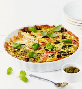 Tomaatti-mozzarellapiirakka   K-ruoka #kasvisruoka