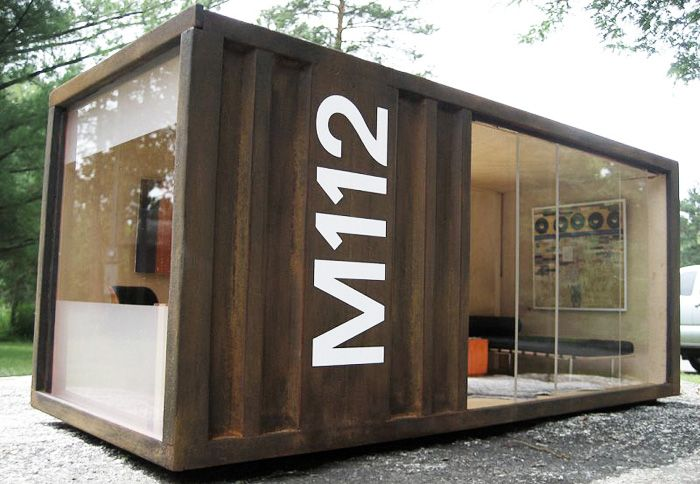 The M112 POD by Paris Renfroe Designs is a miniature 1:12 scale replica of an actual shipping  container that has been converted into a liv...