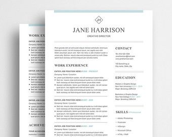 professional resume template for microsoft word instant download professional resume template that will help you make great first impression and impress - Download Professional Cv Template