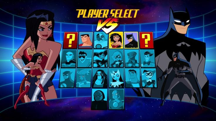 The Justice League Action fighting game that does not exist but totally should and clearly does in the minds of the showrunners. This is from episode 8: Play Date.
