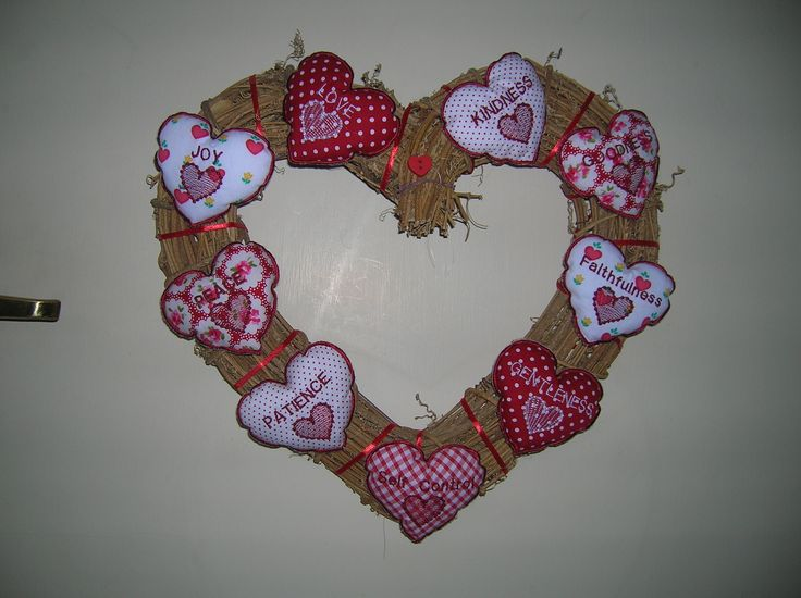 Fruits of the spirit heart wreath, been wanting to make this for ages for my pantry door, so pleased with the result!