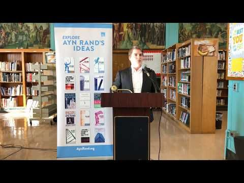 ARI's Free Books to Teachers Program Delivers Four-Millionth Book On February 8, 2018, the Ayn Rand Institute celebrated a significant milestone in its Free Books to Teachers program. Robert Begley, development specialist at ARI, presented a framed copy of...