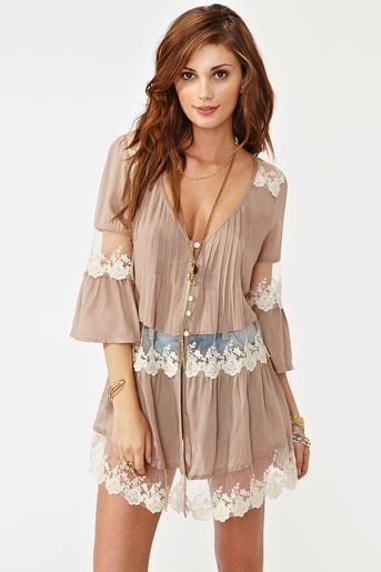 Summer lace tunic dress