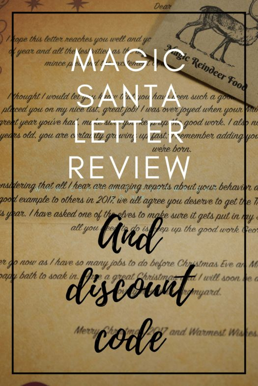 magic santa letter review and discount code magic santa