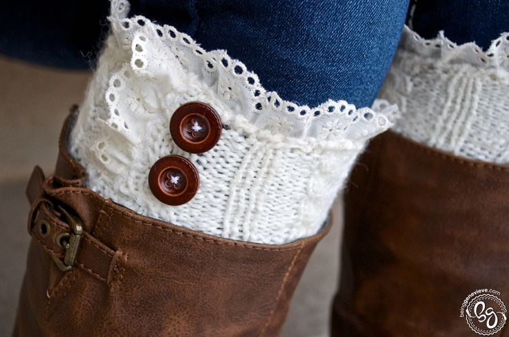 Chic Cuffs instructions using discarded sweater sleeves, lace and buttons.