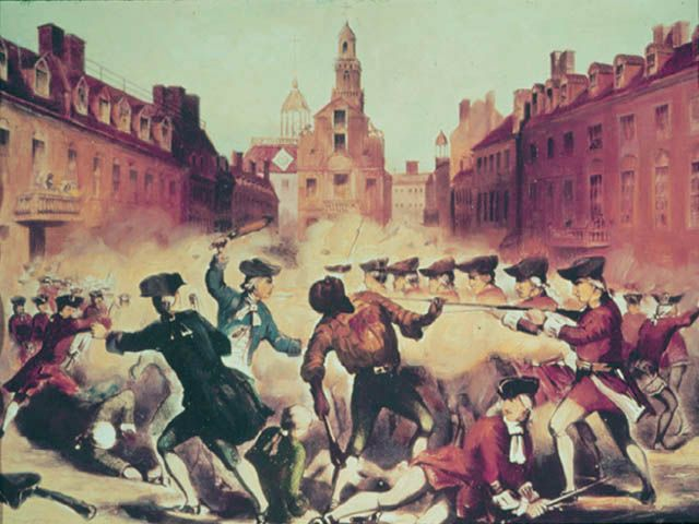 The Boston Massacre took place on March 5, 1770.  Before this event, dockworkers and Redcoats traded insults with each other.  Then finally, the tensions between the two groups grew so large that the Redcoats fired at the youths.  Five Americans had died during this tragic event (one being Crispus Attucks).  The Sons of Liberty had announced that these men had given their lives up for freedom.  This shooting took place in many newspaper articles later.