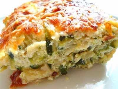 Gratin courgettes curry